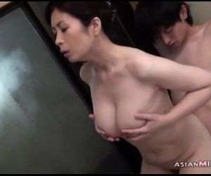 Busty Milf Sucking Young Guy Getting Her Hairy Pussy..