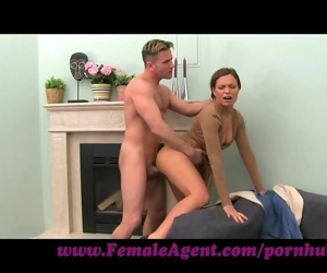 FemaleAgent. Milf cums all studs cock