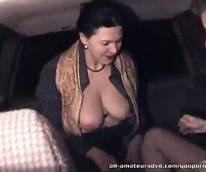 Mature woman blows 19yr guy in car Homemade - 5 min