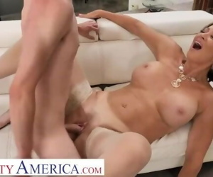 Naughty America Vanessa Videl teaches Juan how to take..