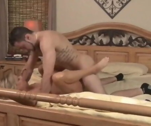 Taboo!!! Stepson cums accidentally inside his shameless..