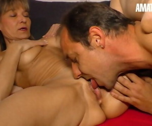 AmateurEuro - Mature German Wife Cums Hard On Neighbors Cock