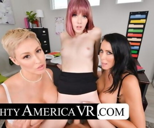 Naughty America Interns fuck their bosses in this naughty..