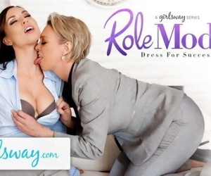 GIRLSWAY Mature Lesbian Gifts Aidra Fox a Power Suit &..