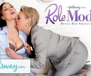 GIRLSWAY Mature Lesbian Gifts Aidra Fox a Power Suit &..