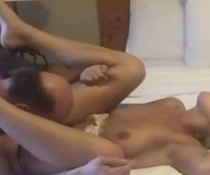 Teen cumming multiple times by old man fucks