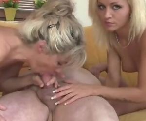 Mature couple seduce sons blonde girlfriend into sex