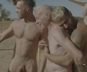 Hot Grandpa Hooks up with Porn Stars - Calvin Banks, Alex..
