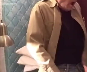 Old Grandpa getting HIs Cock Sucked by Shy Grandpa