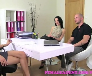 FemaleAgent. new MILF Agent Receives a Huge Cumshot in..