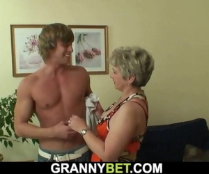 Lonely old Granny Rides Strangers Big Cock