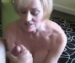 Fetish Granny Kinky Play for Husband