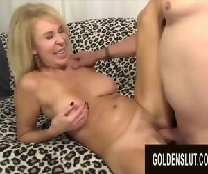 Golden Slut - Perfect GILFs Spreading Wide for Cock..