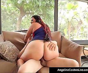 Curvy Cuban Angelina Castro Takes Big Black Cock In Her Box! 11 min HD+