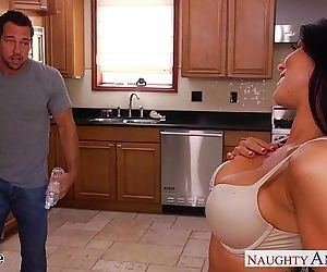 Busty brunette wife Romi Rain gets nailedHD