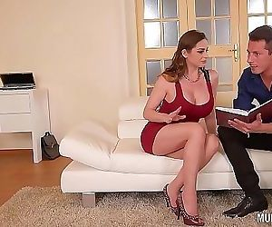 Mom Next door Cathy Heaven goes wild in DP Threesome 25 min HD+