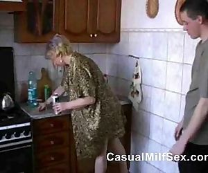 Stepmom from www.CasualMilfSex.com Kitchen Fuck - 1 min 25 sec