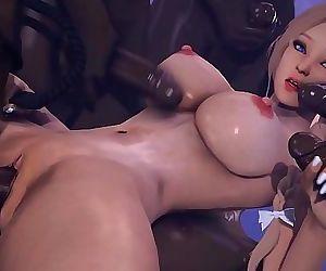 3D Hentai Interracial Sex 2 min HD