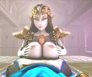 Big-Titted Slut Zelda Titfucks Link