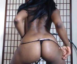 Thick Black Oiled Ass GString Strip & Twerk to Ayy Ladies #Twerkingbuttgirl