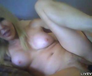 Old blonde xxx celeb Erica Lauren masturbates