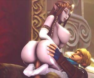 Big-Titted Zelda Rides Links Fat Cock