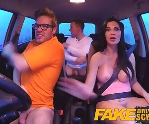 Fake Driving School double creampie for milf who cant get enough cock