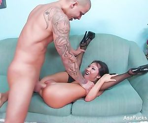 Asa Akira takes a big dig in this great scene