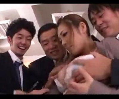 Office Lady Group Suck - 9 min