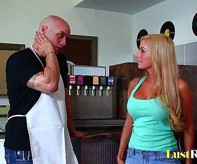 Busty blonde Mariah Madysinn takes a big oneHD