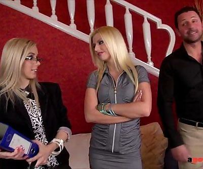 Slutty real estate agent fucks her clients to sell the PropertyHD