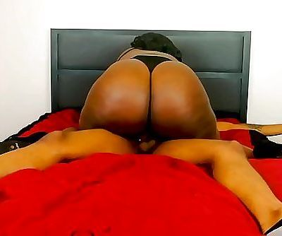 Big Booty Ebony BBW Riding and Getting Creampied 12 min HD