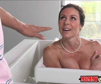 Hot busty stepmom Kendra Lust caught stepson sneaking on her