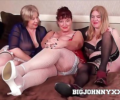 3 Hot Busty Dirty British Grannys Suck & Fuck Young Toyboy! Hardcore XXX Bareback Action! Big Facial! 13 min HD+