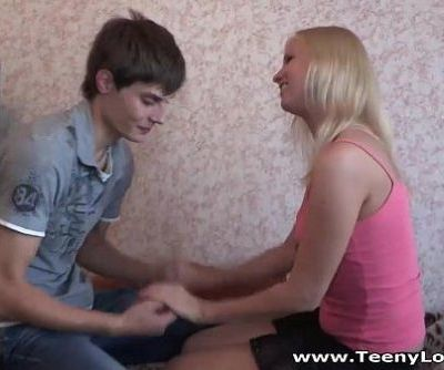 Blonde teeny taking balls deepHD
