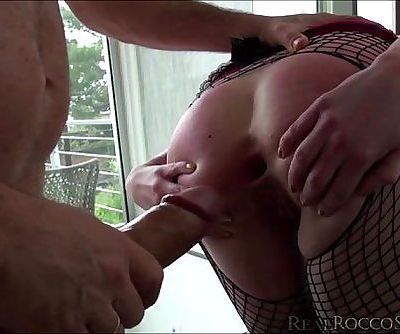 Rocco tries Ash Hollywoods new sex slave they all become horny then threesome ca
