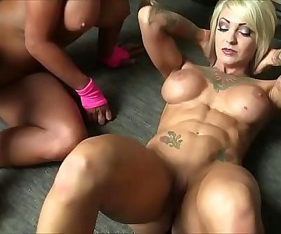 Dani Andrews and Megan Avalon Female Muscle Lesbians 2 min HD
