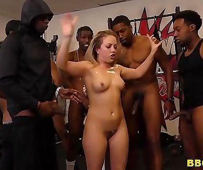 Carmen Valentina Gets Gangbanged By Big Black Cocks 8 min HD
