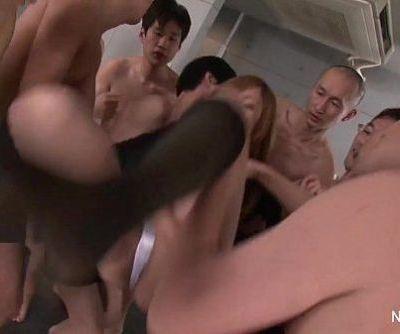 Japanese schoolgirl gangbang - 10 min HD