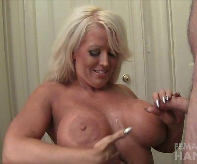 Alura Jenson Gives a Handjob Gets a Cumshot