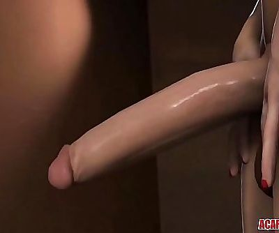 Hot 3D Elizabeth gets futanari cock in her cunt 1 min 43 sec HD+