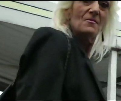IMWF- Nasty White French Granny fucks with black indian guy bbc - 10 min