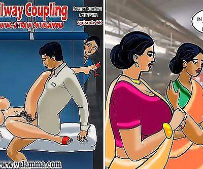 Velamma Episode 68Railway Coupling – Running a Train on Velamma 1 min 1 sec HD+
