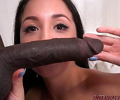 Casting petite asian girl gets big black dick 15 min HD+