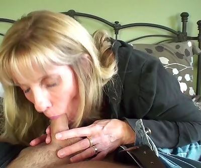54 Year Old Petite MILF Sucks A 21 Year Old Pornhub Member