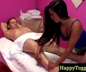 Petite sexy asian masseuse paid to suck - 7 min