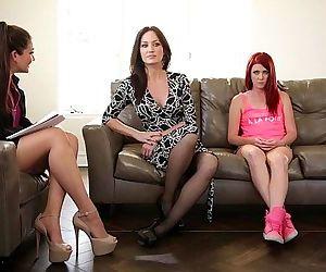 The Family TherapistElle Alexandra, Allie Haze, Angela SommersHD