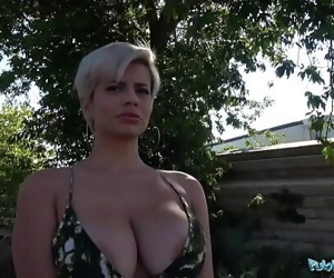 Public Agent Busty crazy MILF in hot sloppy blowjob and public fuck 8 min 720p