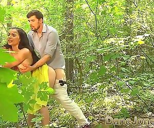 Dane Jones Blowjob and outdoor sex in a summer dress and kitchen quickie 7 min HD