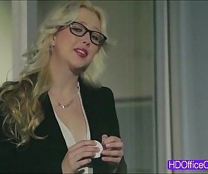 Sexy Samantha Rones hottest office sex